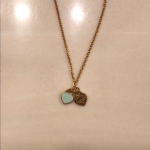 Tiffany&Co Mini Double Heart Tag Pendant